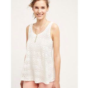 Anthro Germaine Eyelet Swing Tank
